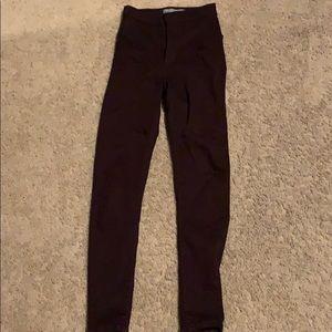 Pretty maroon/burgundy Topshop skinny jeans